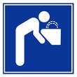 Señal aeropuerto simbolo agua potable