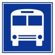 Señal aeropuerto simbolo parada autobus