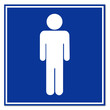 Cartel aeropuerto simbolo hombre