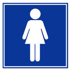 Cartel aeropuerto simbolo mujer