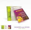 Four magazine cover layout design vector