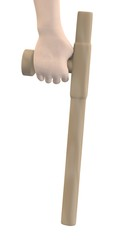 3d render of hand with tonfa