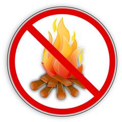 Verbotsschild- Rauchen, Feuer, offenes Licht verboten