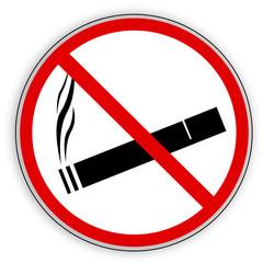 Verbotsschild- Rauchverbot