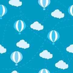 seamless pattern of air balloon