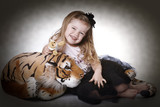Little girl with plush tiger II