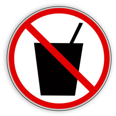 Verbotsschild- Trinken verboten