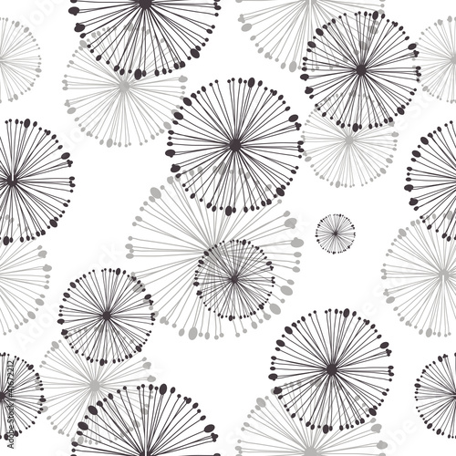 seamless pattern of dandelion © Oksana