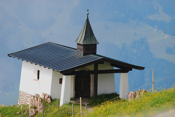 chapel  in the mountains