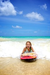 Girl Body Boarding