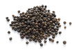 black peppercorns isolated