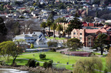 People walking, Kings Park, Launceston, Tasmania, Australia
