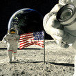 working astronauts on moon 3d rendering - 41677670