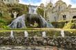 Leinwanddruck Bild - Fontana della Rometta in the Gardens of Villa d'Este in Tivoli