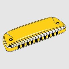 Yellow harmonica