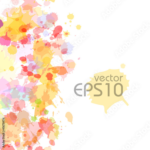 abstract watercolor blobs background