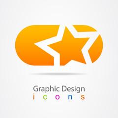 Element of graphic design sign.