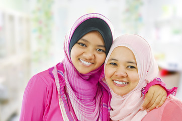 Happy Muslim women