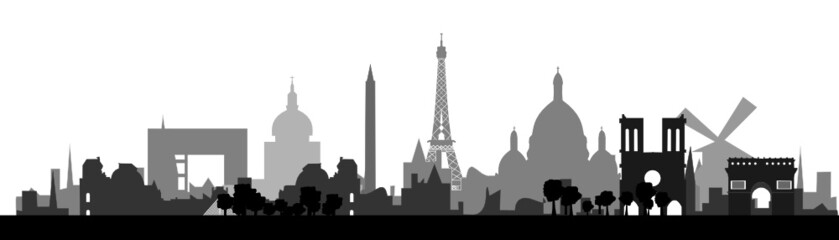 Paris Skyline detailed