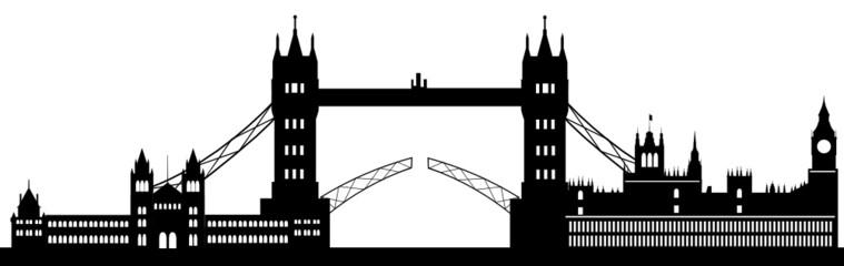London typical buildings Skyline