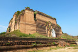 Mingun temple, biggest unfinished buddhist structure, Myanmar poster