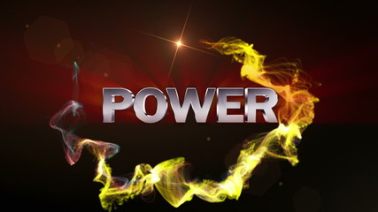 POWER Text in Particle (Double Version) - HD1080