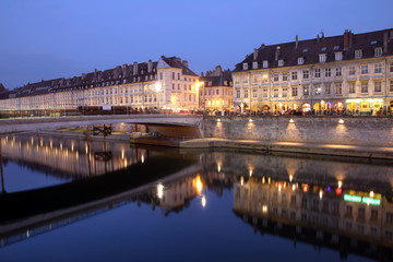 Besancon at night, France