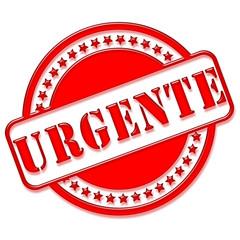 """Carimbo com a palavra """"urgente"""" - estilo vidrado"""