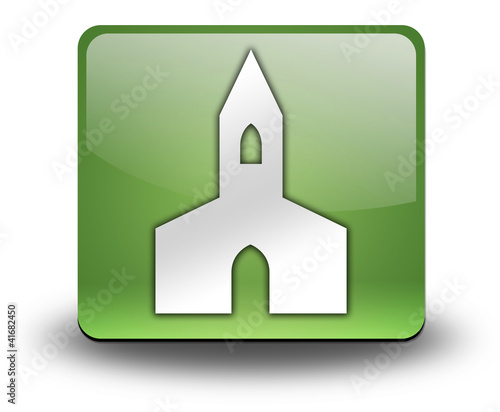 "Green 3D Effect Icon ""Chapel"""