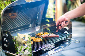nice barbeque in summertime