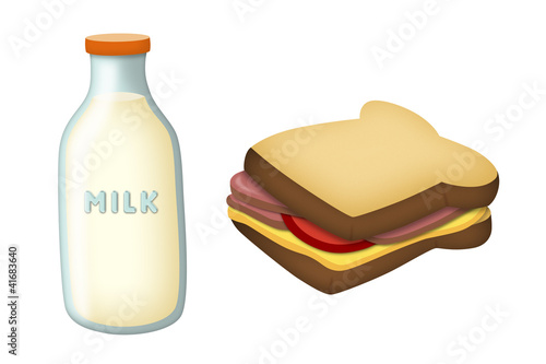 Milk and Sandwich