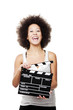 Woman with  clapboard
