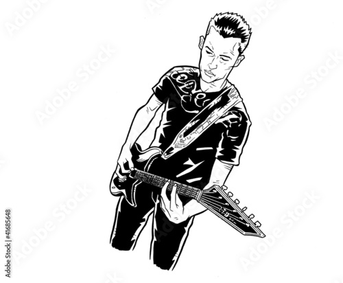Guitar Player - Comic Style