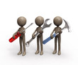 repair team with tools