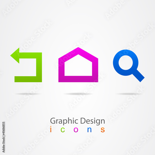 graphic design set web icons.