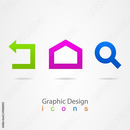 graphic design set web icons.