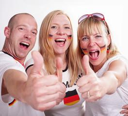 Optimistische deutsche Fans
