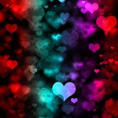 Multi-Colored Hearts Graphic