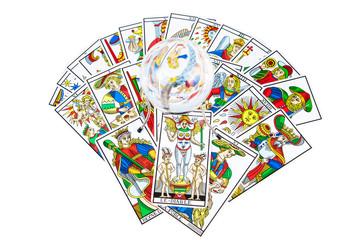 Tarot cards with a magic ball (13)