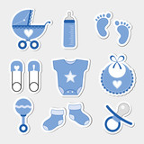 Baby boy design icons