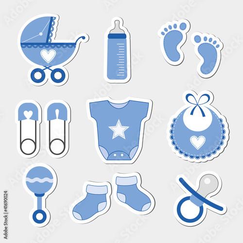 Baby boy design icons