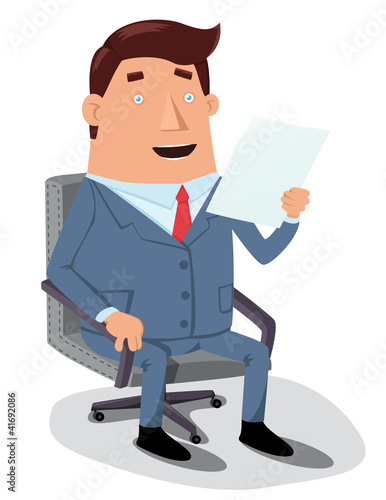 Man reading document
