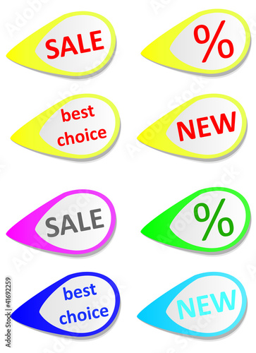 Color Stikers, Isolated On Background