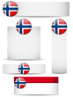 Norway Country Set of Banners