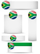 South Africa Country Set of Banners