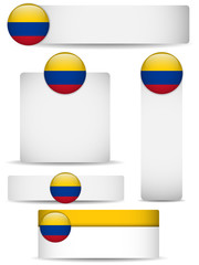 Colombia Country Set of Banners