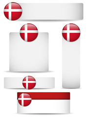 Denmark Country Set of Banners