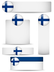Finland Country Set of Banners