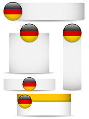 Germany Country Set of Banners