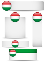 Hungary Country Set of Banners